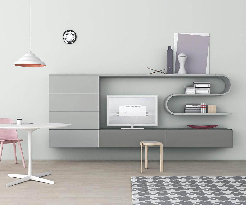 Novamobili design wave wohnwand gd 214 for Wohnwand exklusiv