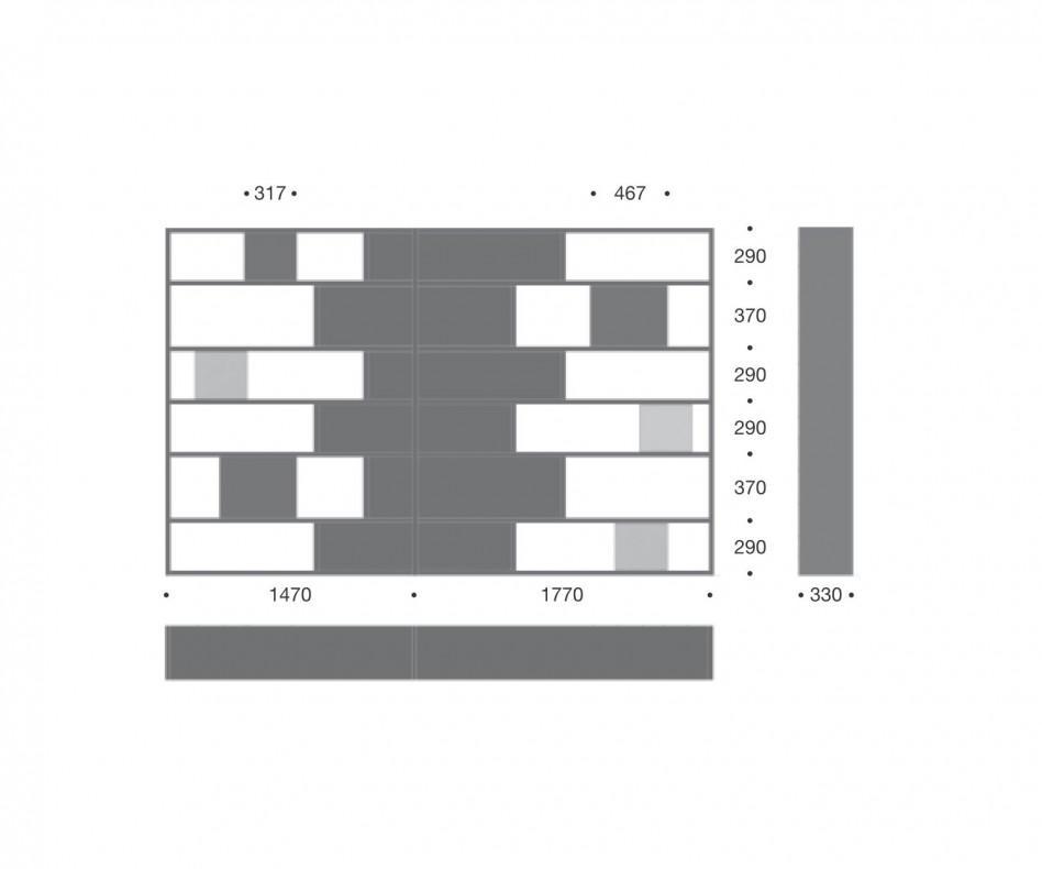 Schwarzes Design Regal C85
