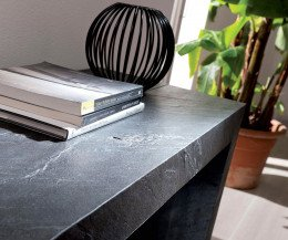 Moderne Ozzio Designer Konsole ausziehbarer Esstisch Glass Stein Laminat