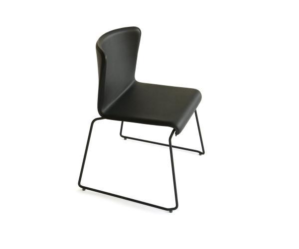 SpHaus Lisbon Stuhl Chair gepolstert schwarz vorne