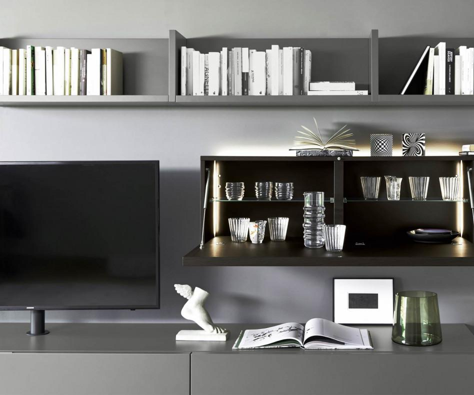 Livitalia Wohnwand C60 mit TV Halterung