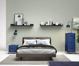 Hochwertiger Novamobili Float Nachttisch Blau