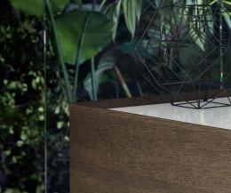 Novamobili Kommode Quarantacinque 4 Schubladen Detail Glas Abdeckplatte