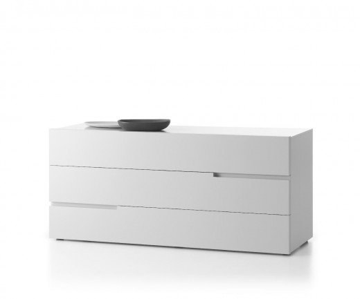 Moderne Livitalia Tacca Design Kommode in Weiß Matt im Schlafzimmer