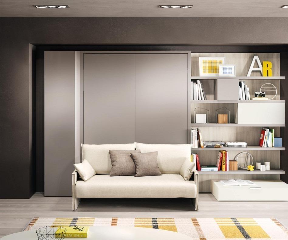 Schrankbett 160x200 cm clei penelope 2 mit sofa Schrankbett mit sofa