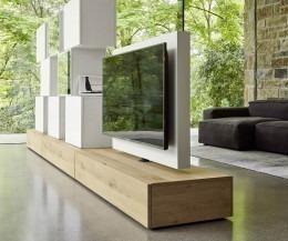 Livitalia Wohnwand C46 drehbares TV Paneel
