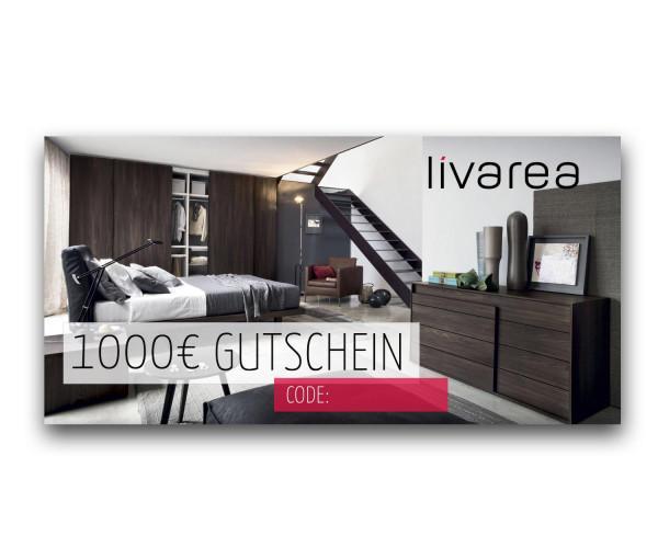 1000€ Livarea Geschenkgutschein