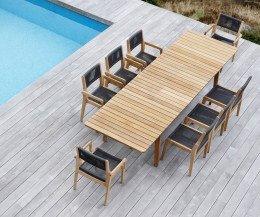 Design Gartentisch aus Teakholz