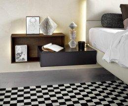 Moderner Livitalia Design Nachttisch für Boxspringbett einfach hängend