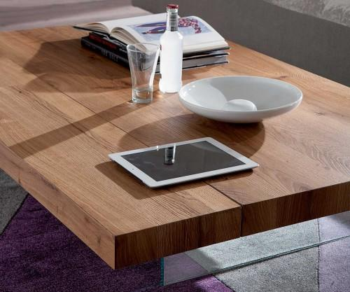Ozzio Couchtisch Markus T063 Massive Tischplatte Echtholzfurnier