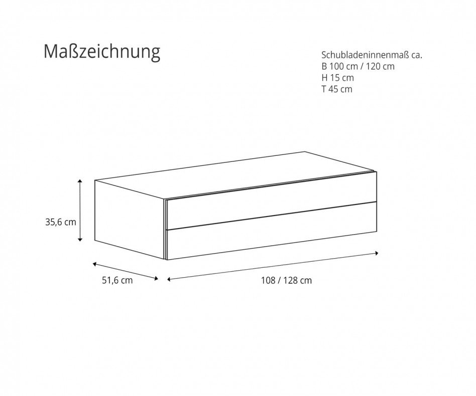 Easy 2 Hängekommode Dunkelgrau Matt mit Nachttisch Easy 2 kombiniert