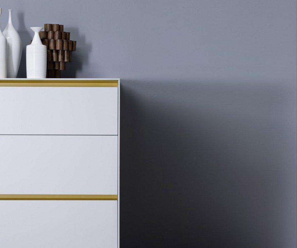 Hochwertiges Novamobili Design Sideboard LIne a Terra in Weiß Matt