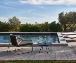 Runder Oasiq Attol Aluminium Design Pool Beistelltisch