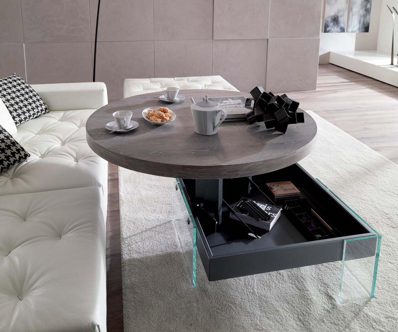 Ozzio design couchtisch h henverstellbar mit schwebeeffekt for Design couchtisch verstellbar