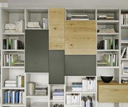 Modernes Livitalia Bücherregal mit Türen in Holz und Lack