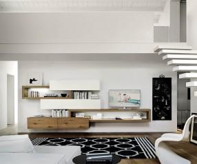Schwebende Design Wohnwand C25