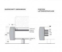 Modernes Livitalia Softbox Polsterbett Maße Skizze Größen Größenangaben
