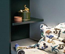 Sitznische mit Regal im Design Flur Schrank Gola