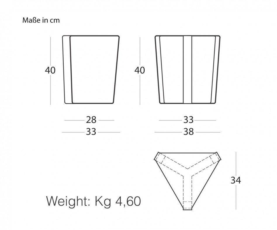 Moderner MEME DESIGN Finity Beistelltisch dreieckig in Kombination mit anderen