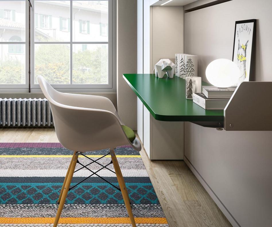 clei kali 90 120 board schrankbett mit schreibtisch. Black Bedroom Furniture Sets. Home Design Ideas