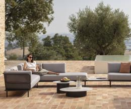 Branta Beistelltisch als idealer Begleiter für Sofas auf Terrasse Balkon Veranda