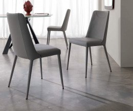 Moderner Ozzio Design Stuhl Sofia gepolsterter Esszimmerstuhl