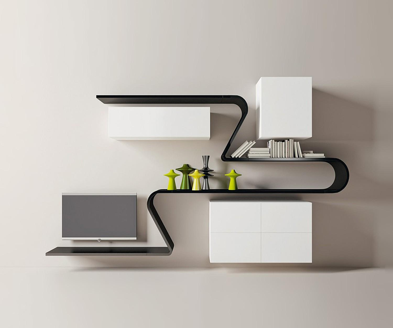wohnwand moderne designer tv wohnw nde. Black Bedroom Furniture Sets. Home Design Ideas