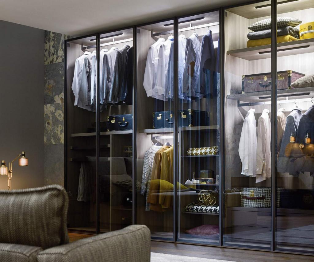 novamobili kleiderschrank perry mit glast ren. Black Bedroom Furniture Sets. Home Design Ideas