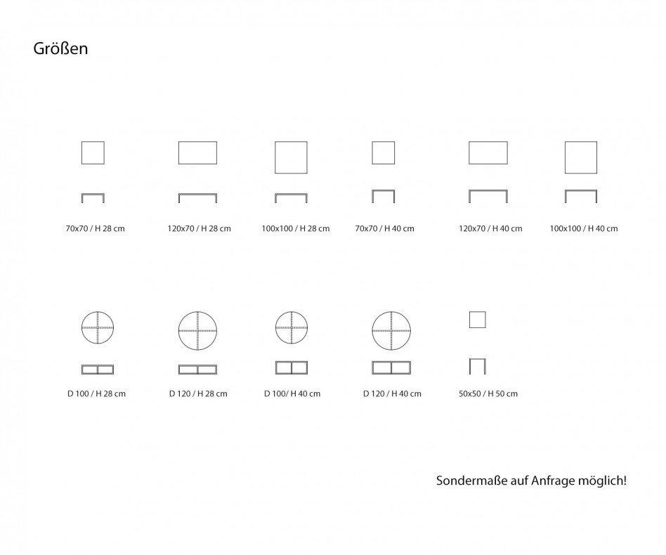 Hochwertiger Giulio Marelli Couchtisch Frame Quadratisch 90x90