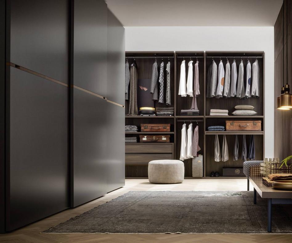 Novamobili Design Kleiderschrank Middle Schiebetüren