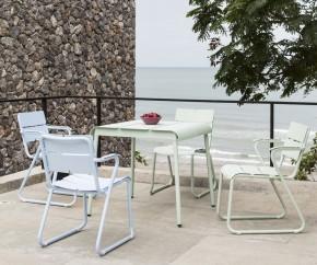 Wohnideen: Oasiq Corail Aluminium Stuhl mit Armlehnen