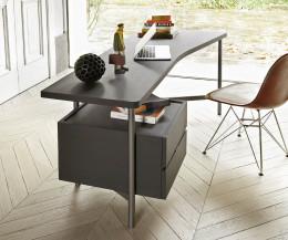 Moderner Livitalia Architekten Design Schreibtisch mit schwebenden Schubladen