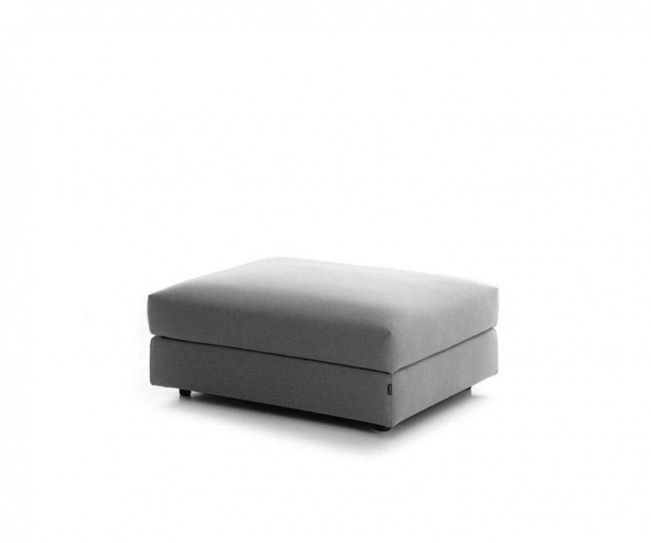 Exklusiver Prostoria Classic Pouf Design Hocker in Grau