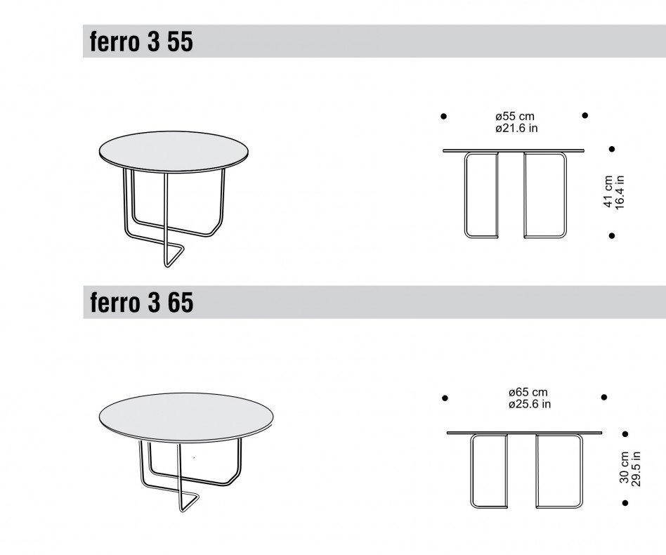 Hochwertiger spHaus Designer Beistelltisch Ferro3
