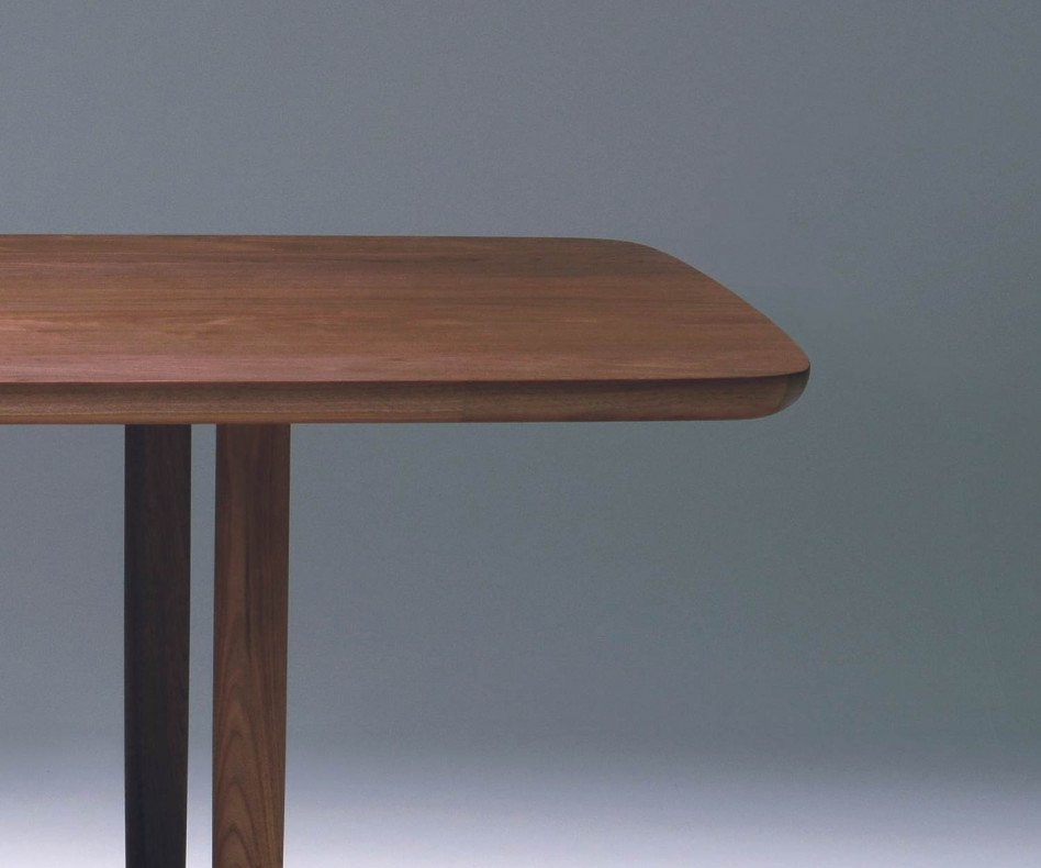 Conde House Kamuy Design Tisch in Nussbaum massiv Tischplatte in Furnier