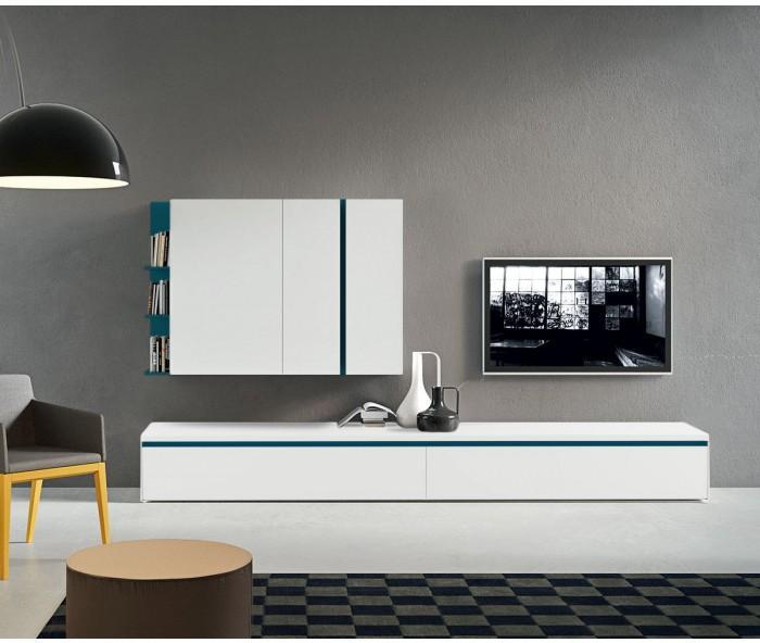 Moderne design tv wohnwand h ngeschrank lowboard for Tv schrankwand design