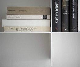 Innesto Bücheregal für die Wand aus Metall Dünn Schlank