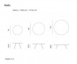 Prostoria Beistelltisch Monk Skizze Maße Größen