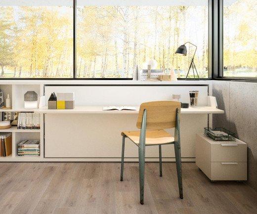 Exklusives Clei Kali 90/120 Board Design Schrankbett mit Schreibtisch