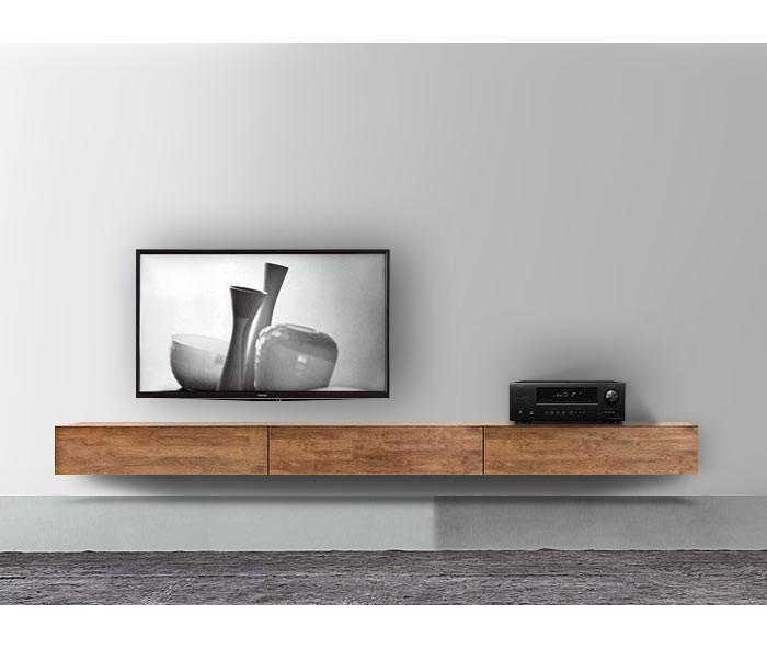 H ngende lowboards 120 300 cm breite in 30 farben for Wohnzimmerwand braun