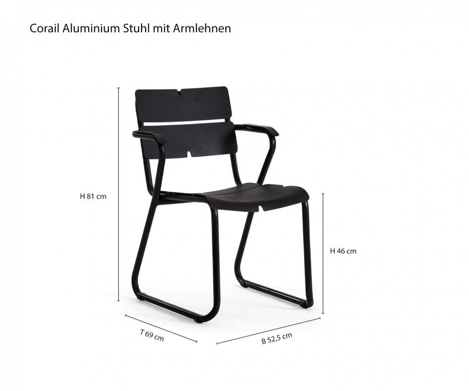 Exklusiver Oasiq Corail Design Armlehnenstuhl mit Reef Tisch