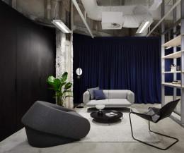 Moderner Prostoria Designer Schlafsessel Up-Lift in Grau in Loft-Studio