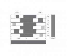 Livitalia Design Bücherregal C85 Maße Skizze Größen Größenangaben