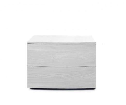 Novamobili Nachttisch Globe 2 Schubladen weiß