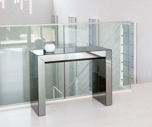 Ozzio Konsole ausziehbarer Esstisch Glass