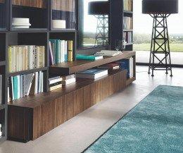 Holz TV Lowboard für große LED Fernseher
