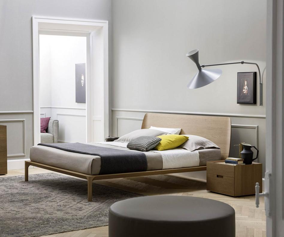 Novamobili Design Nachttisch Quarantacinque 2 Schubladen Eiche Miele N02