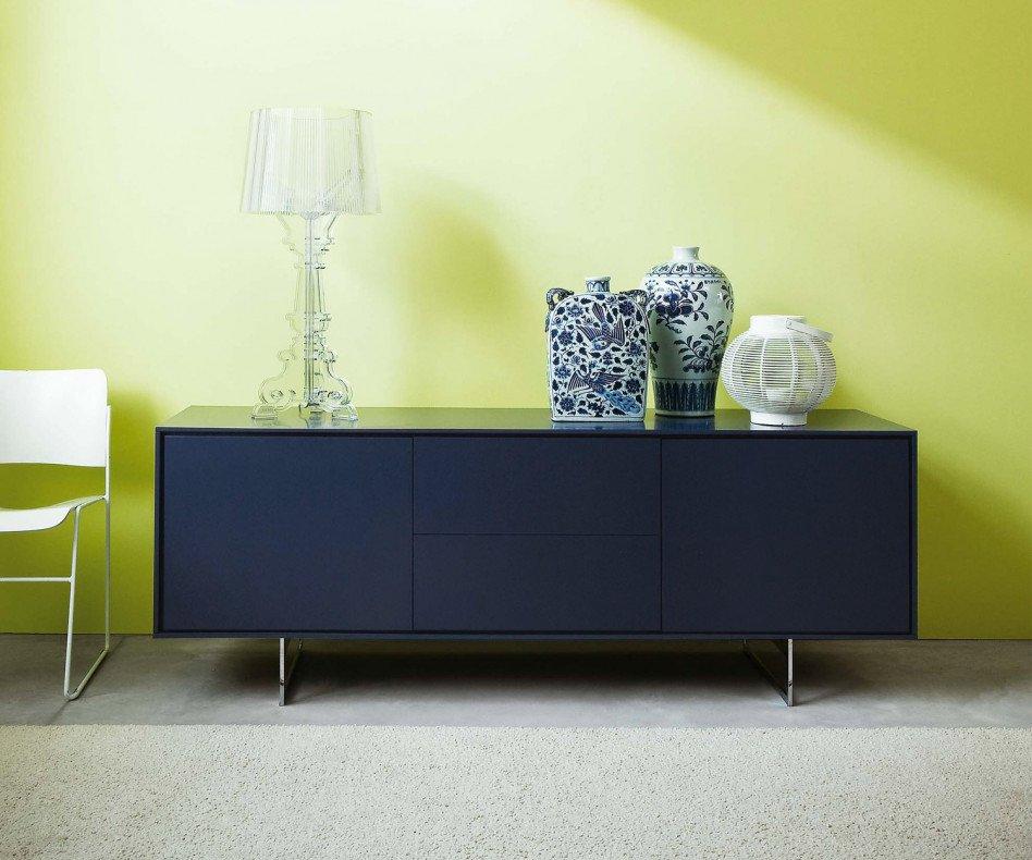 Novamobili Design Sideboard Schatten 3 mit 2 Schubladen mittig und 2 Türen