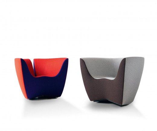 Exklusiver spHaus Apple Design Lounge Sessel Bicolour zweifarbig