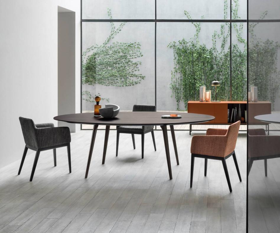 Hochwertiger Novamobili Design Tisch Argos in Weiß Matt